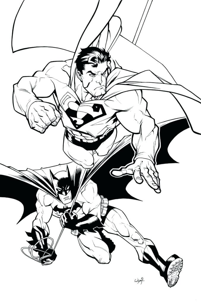 677x1024 Superman Coloring Page Batman And Superman Coloring Pages