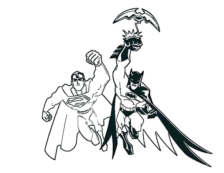 770x595 Superman Coloring Pages Batman And Superman Coloring Pages