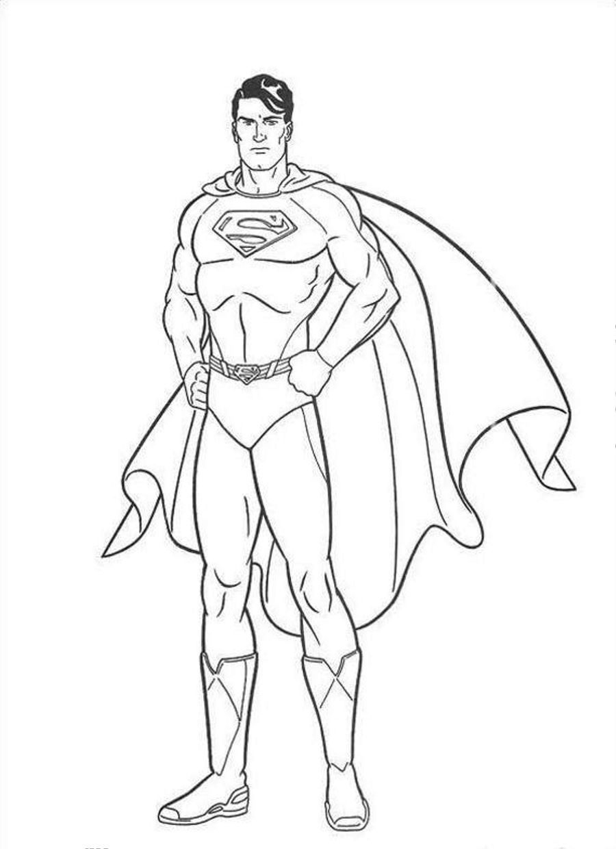 900x1240 Superman Coloring Pages In With Hd Resolution Pixels