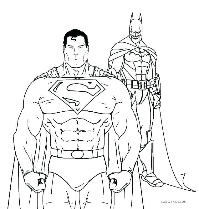 636x670 Superman Coloring Pages Print Batman Coloring Page Superman