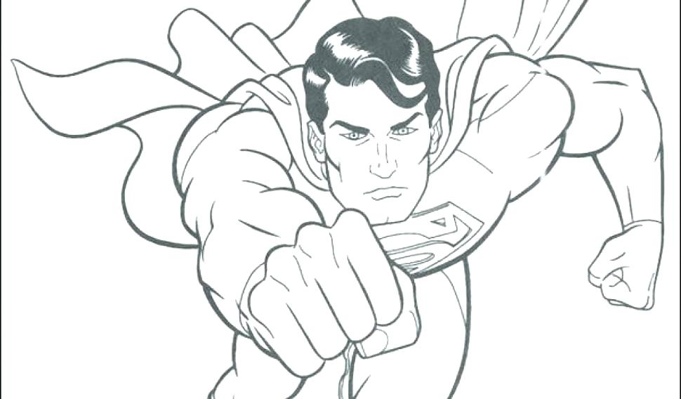 970x568 Superman Coloring Pages Printable Superman Coloring Pages Super