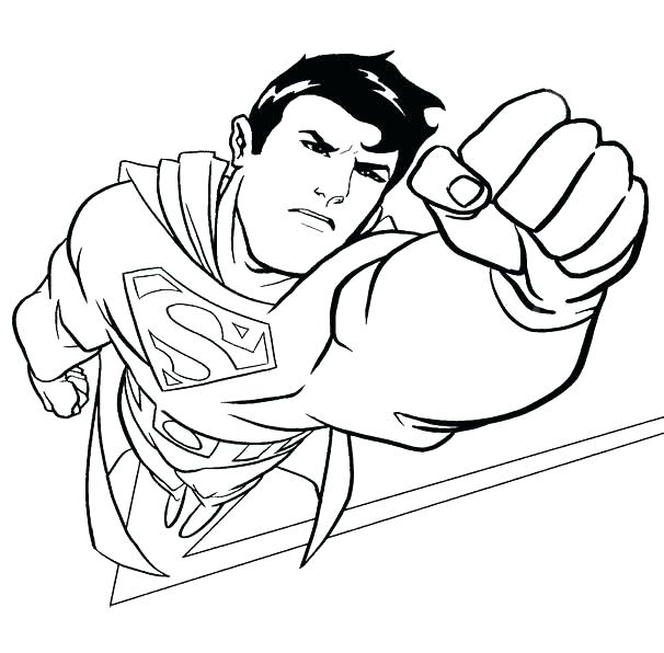 606x596 Superman Logo Coloring Pages Printable Superman Logo Coloring Page