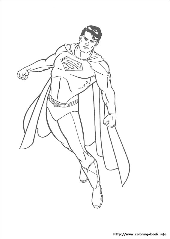 567x794 Superman Coloring Picture