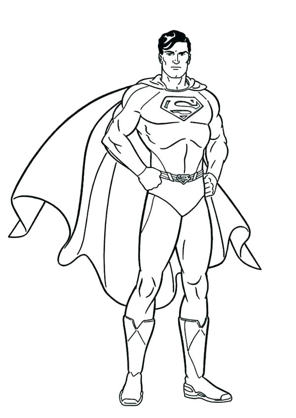 600x848 Superman Coloring Pages For Kids Professional