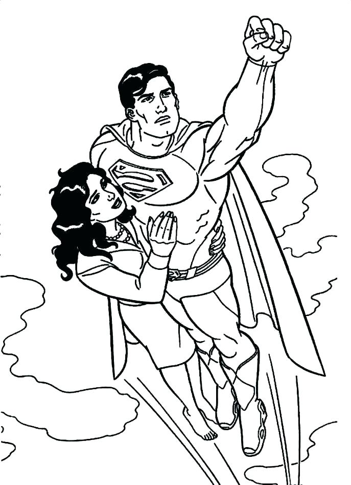 687x947 Coloring Pages Superman Simple Superman Coloring Page Best