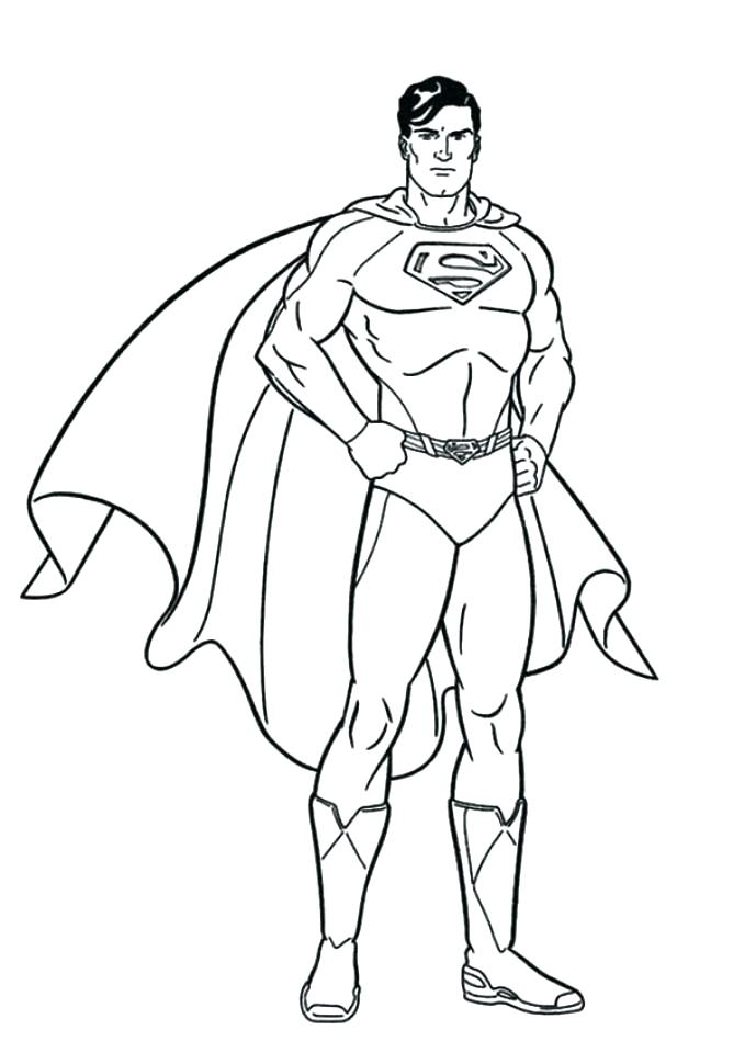 679x960 Coloring Pages Superman Superman Coloring Pages Print Printable