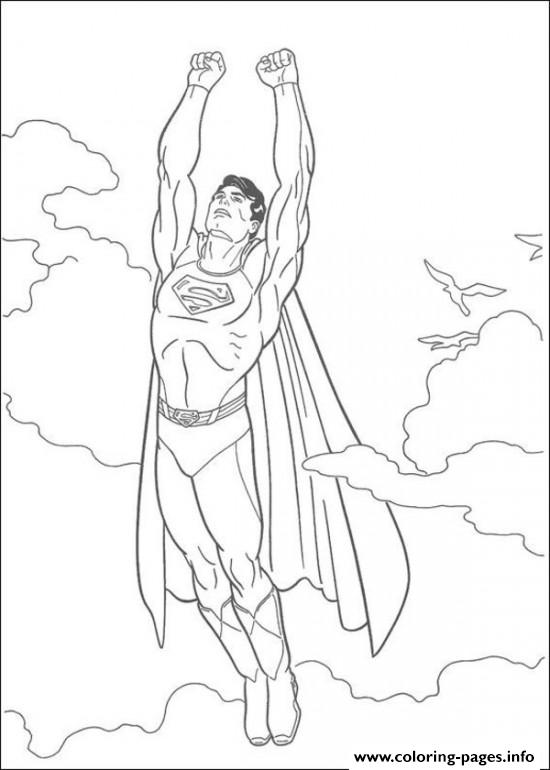 550x770 Flying Superman S Kids Coloring Pages Printable