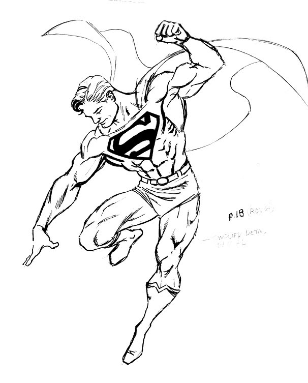 606x753 Free Superman Coloring Sheets