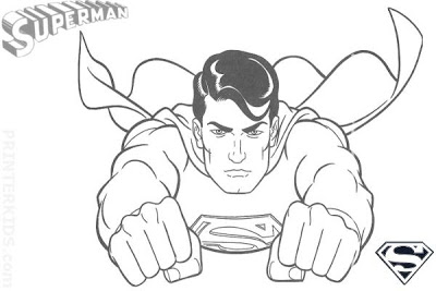 400x267 Free Printable Superman Super Hero Flying Coloring Pages