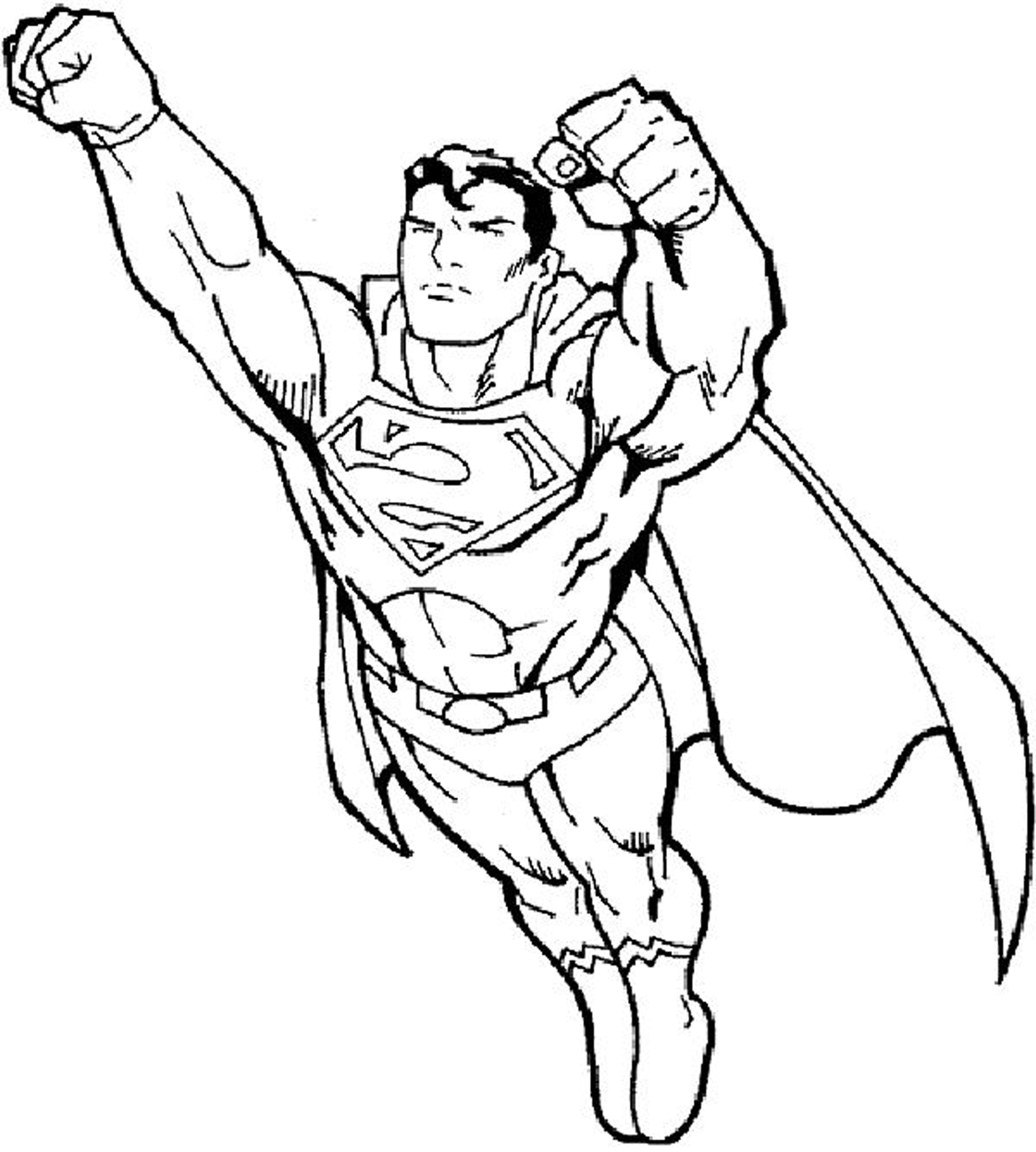 Superman Flying Coloring Pages at GetDrawings | Free download