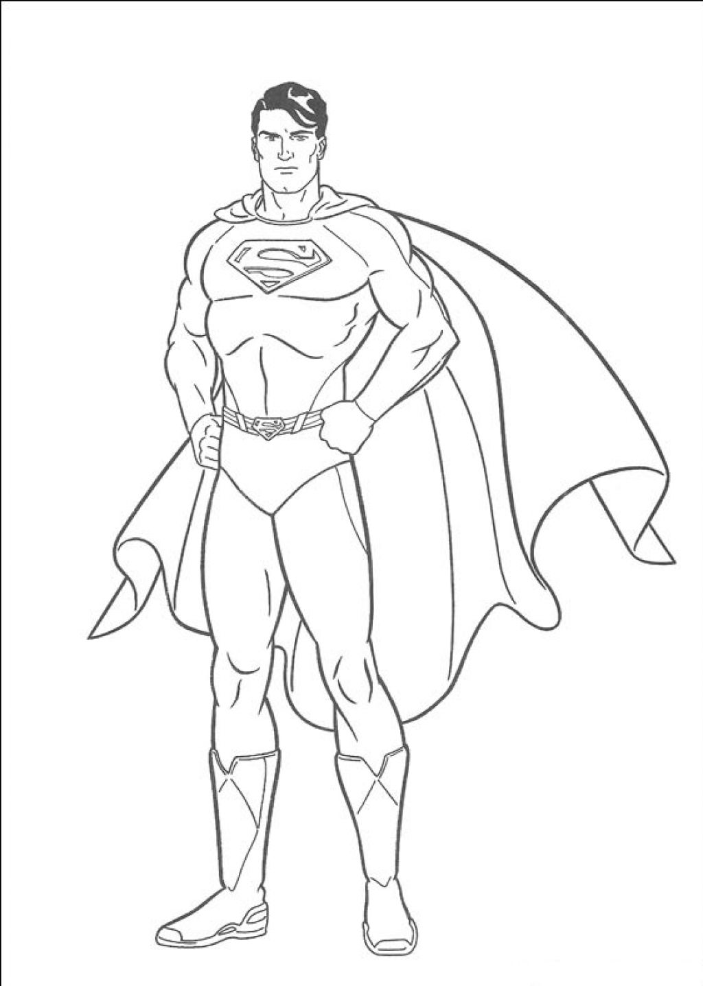 1024x1437 Superman Coloring Pages Printable Image