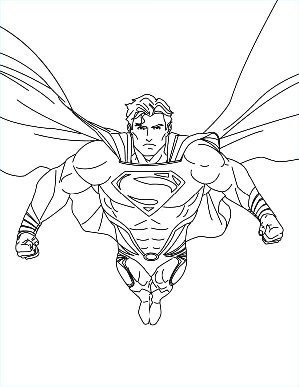 600x776 Superman Flying Coloring Pages