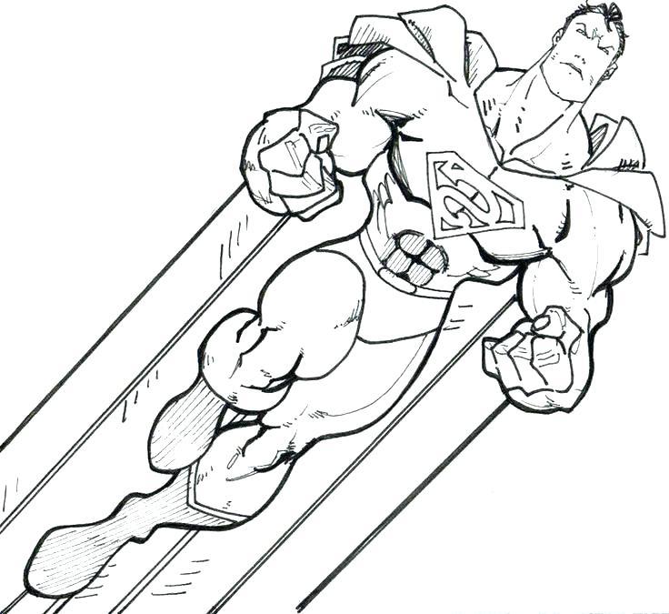 736x675 Batman And Superman Plus Superman Coloring Pictures To Print