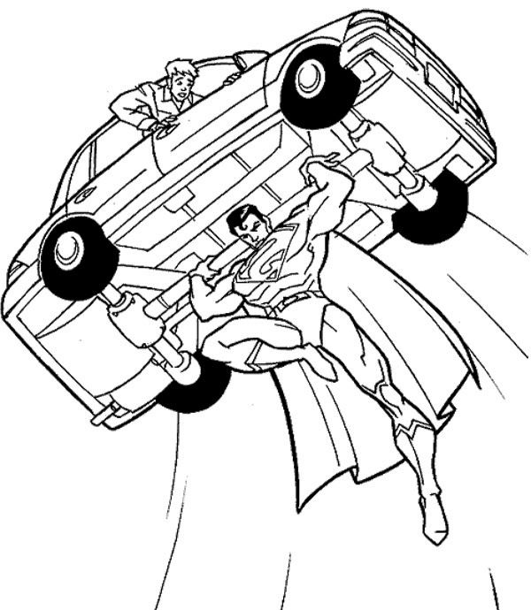 Superman Flying Coloring Pages At Getdrawingscom Free For