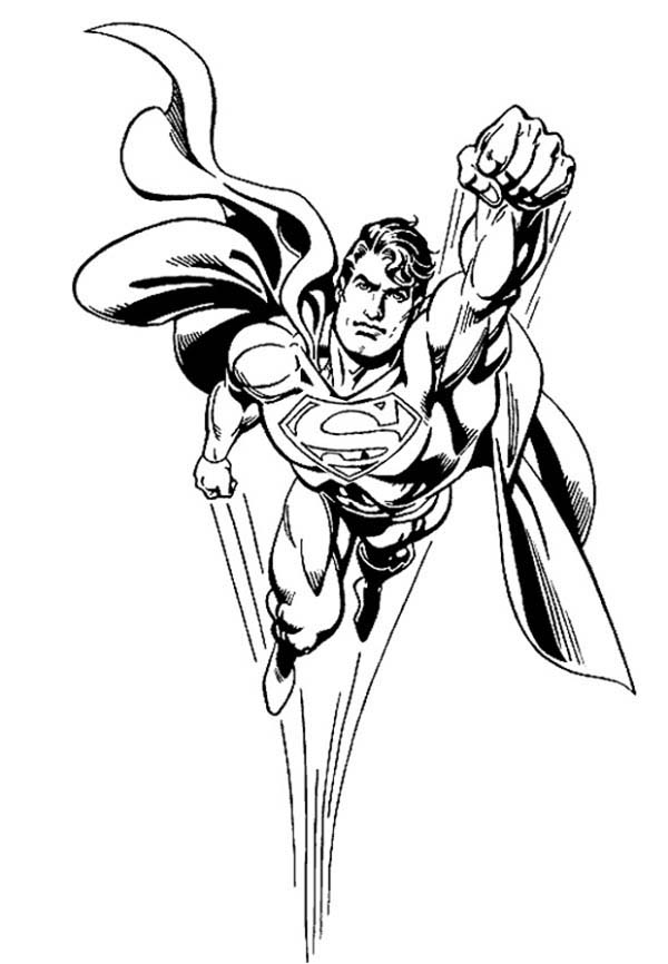 600x866 Superman Coloring Pages Printable For Boys