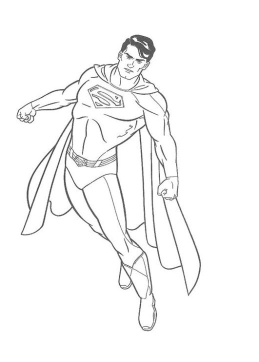 518x724 Free Printable Superman Coloring Pages For Kids