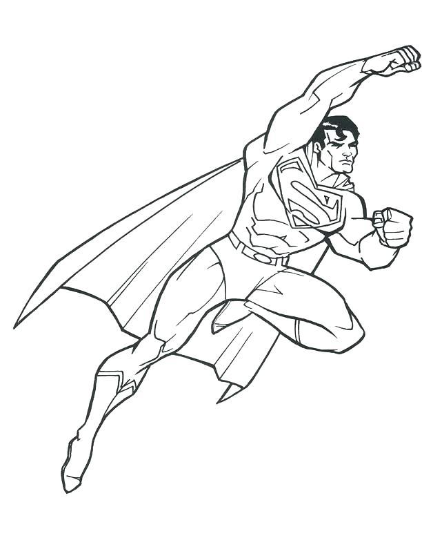 612x792 Superman Coloring Sheet