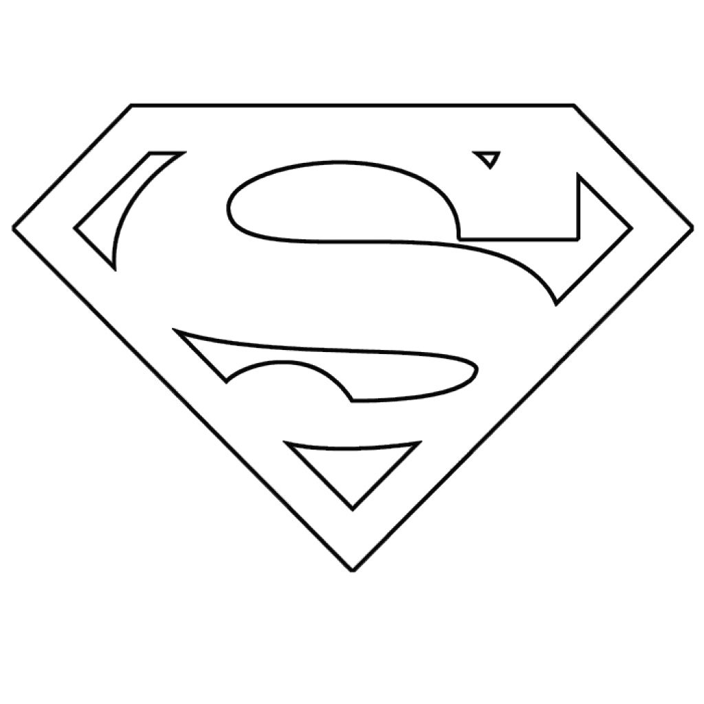 1024x1024 Printable Superman Logo Coloring Pages Design And Omeletta Me