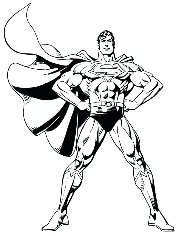 600x790 Super Man Coloring Page Superman Color Page Coloring Pages