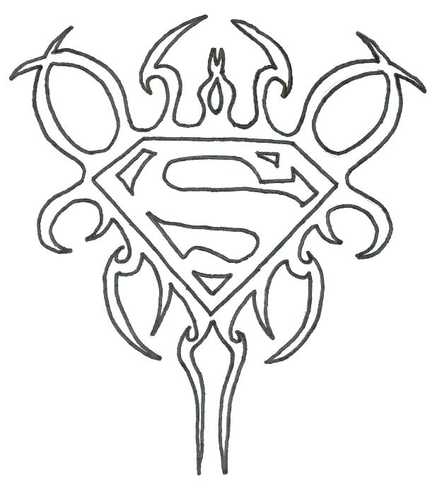 618x699 Batman Vs Superman Logo Coloring Pages Superman Logo Coloring