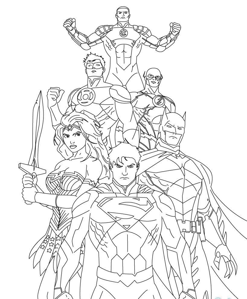818x993 Superhero, Superman Printable Coloring Pages For Kids, Superhero