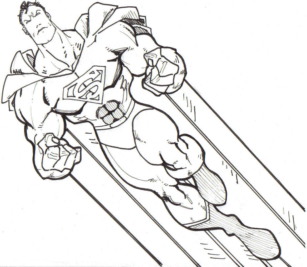 1167x1015 Strong Superman Free Coloring Page Kids Movies Superheros Superman