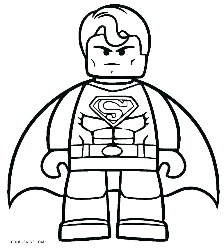 770x850 Coloring Pages Superman Superman Printable Coloring Pages Superman