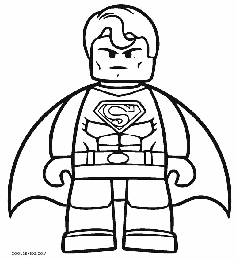 770x850 Free Printable Superman Coloring Pages For Kids