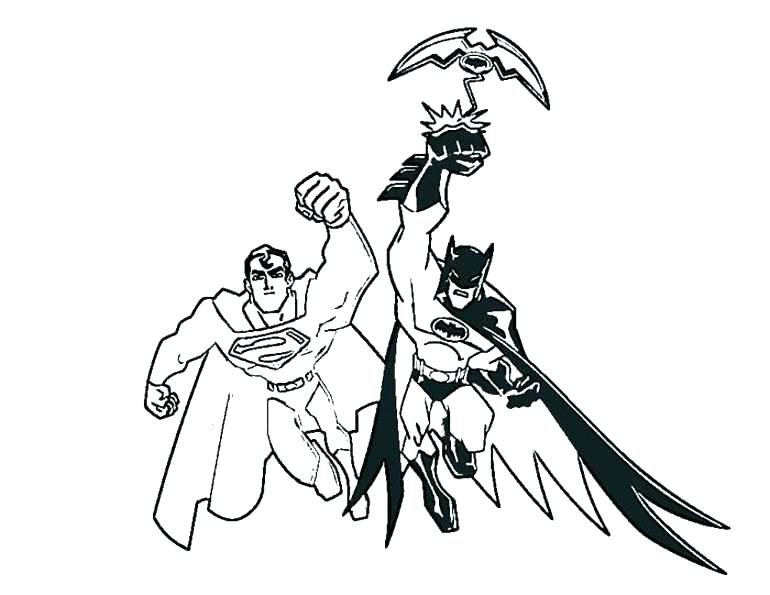 Superman Vs Batman Coloring Pages At Getdrawings Com Free For