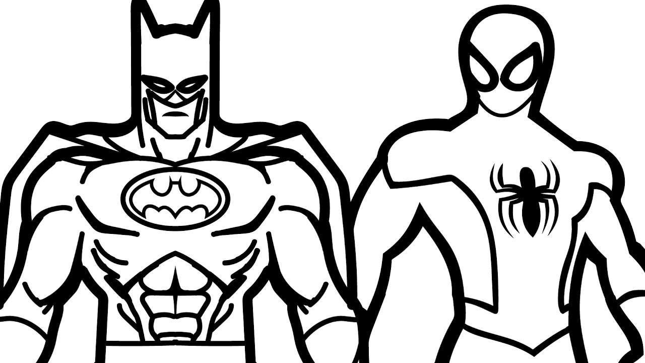 1280x720 Batman Coloring Page In Funny Print Pict Printables Pictures