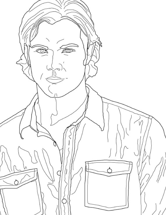 570x738 Supernatural Coloring Page