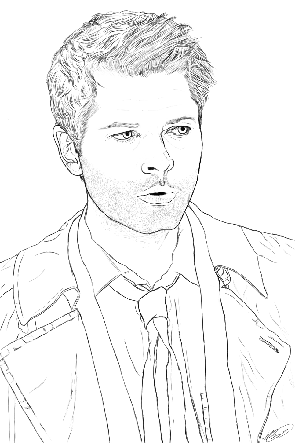 966x1450 Supernatural Coloring Pages