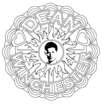 330x338 Supernatural Dean Winchester Mandalas Grown Up Colouring