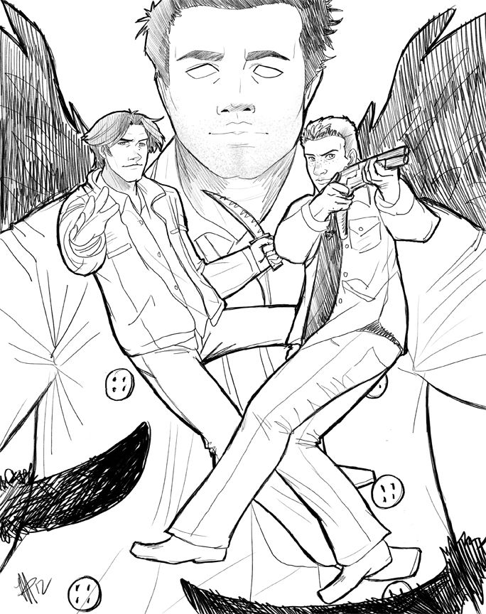 684x864 Supernatural Coloring Pages Supernatural