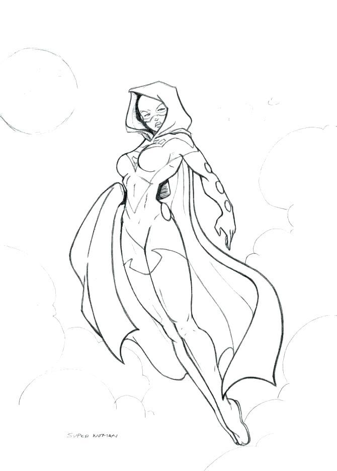 Superwoman Coloring Pages
