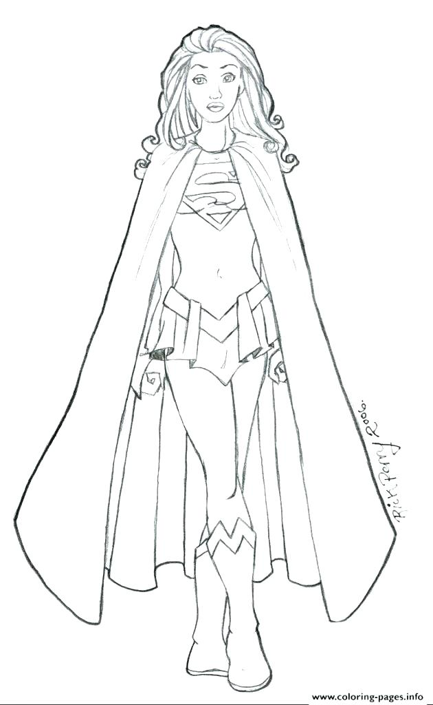Superwoman Coloring Pages At Getdrawings Com Free For