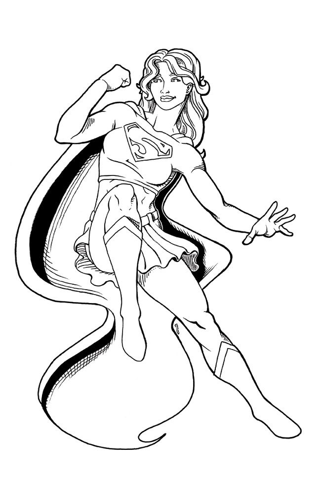 650x975 Superwoman Free Coloring Page Kids, Movies, Superheros Coloring