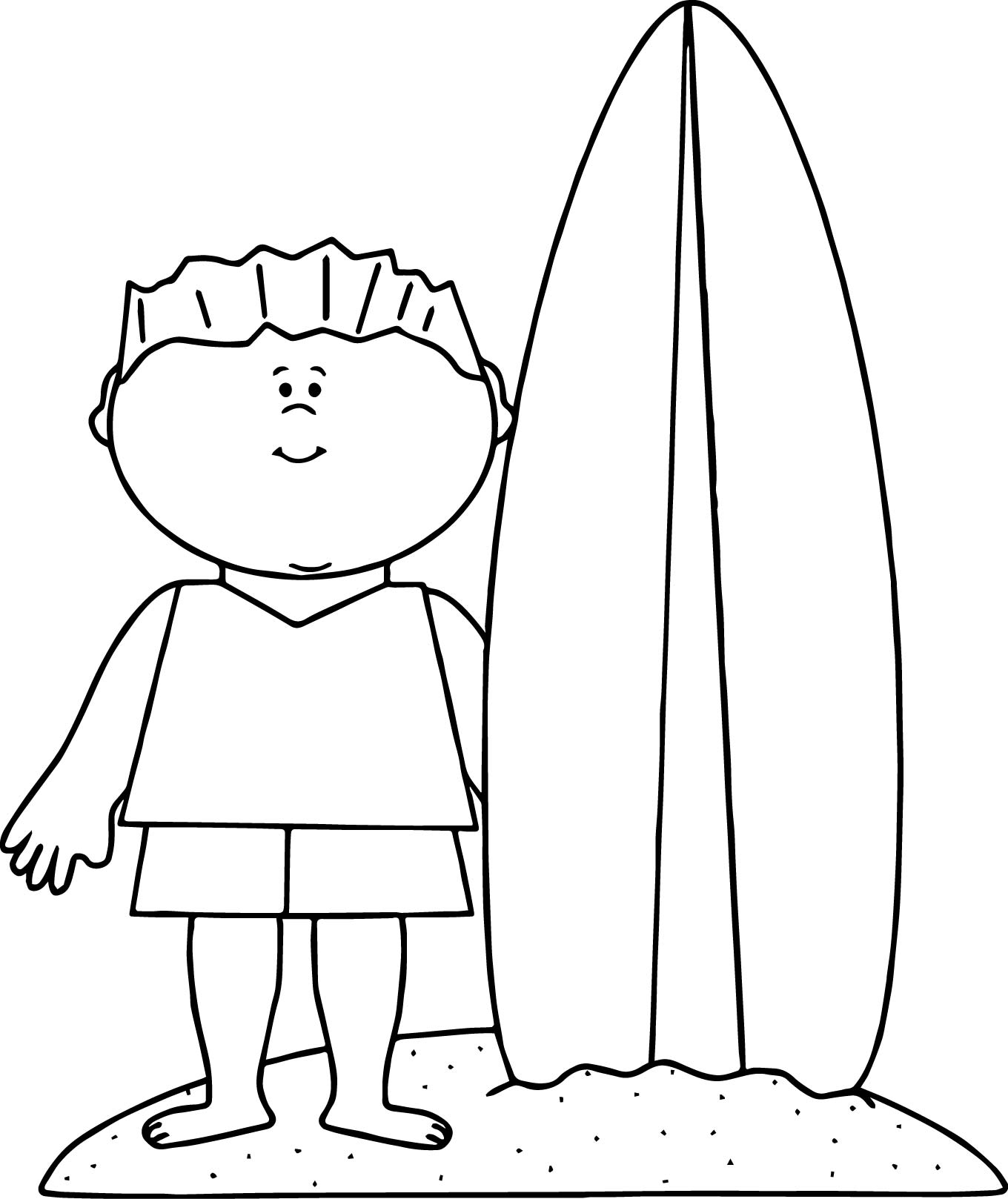 1360x1618 Surfboard Coloring Page