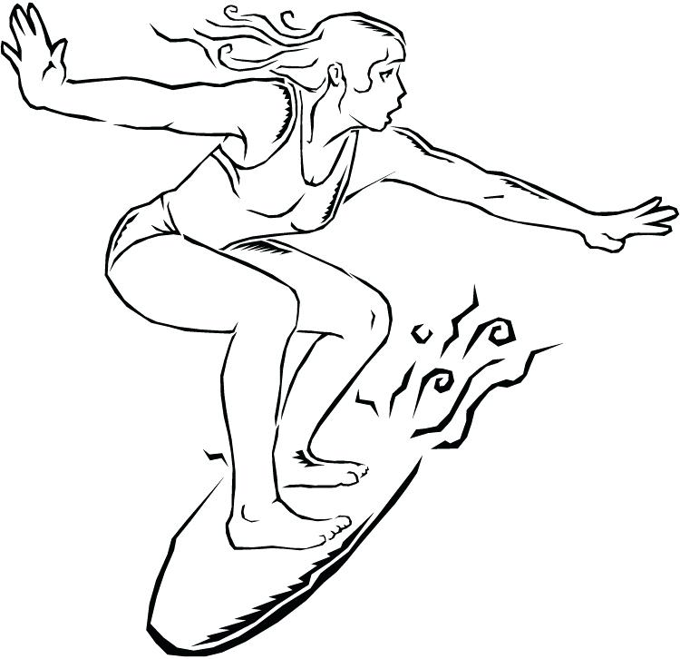 750x726 Surfing Coloring Pages Index Coloring Pages Girl Surfing Coloring