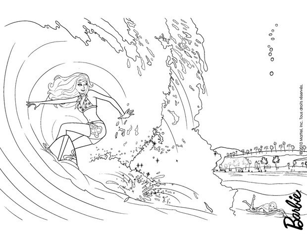 620x480 Merliah Surfing Coloring Pages