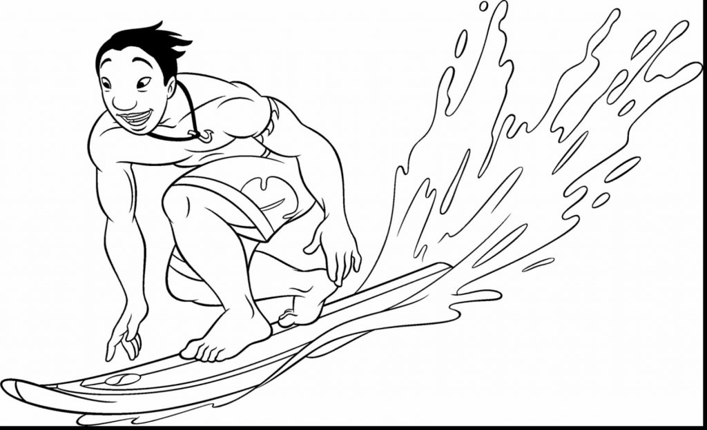 1024x624 New Surfing Coloring Pages