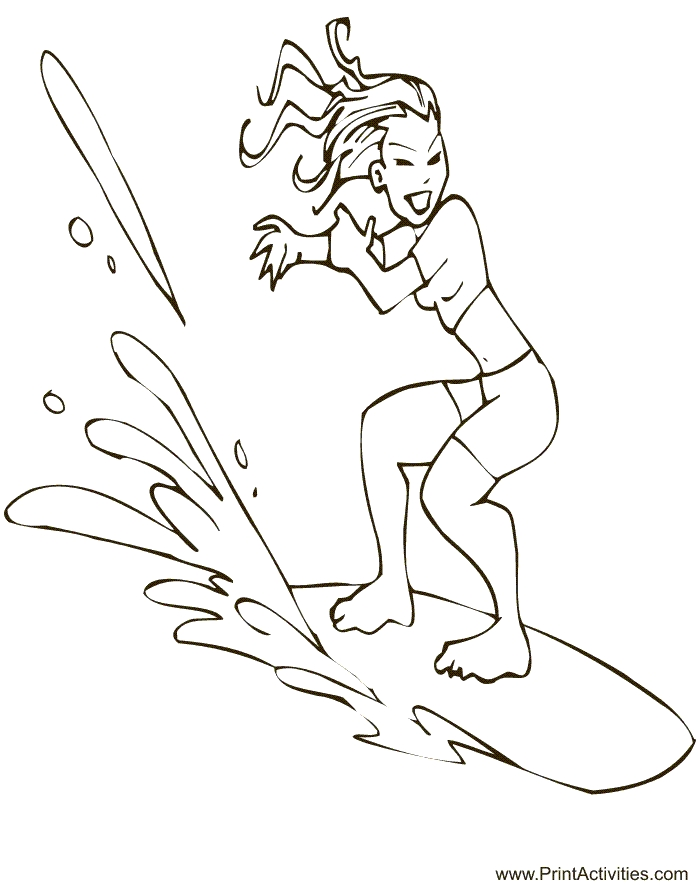 700x885 Surfing Coloring Pages Collections Free Coloring Pages