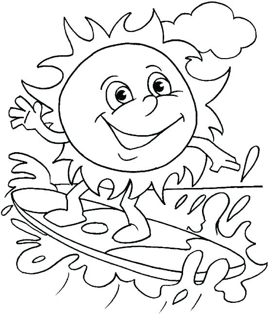 556x648 Surfing Coloring Pages Kids Summer Water