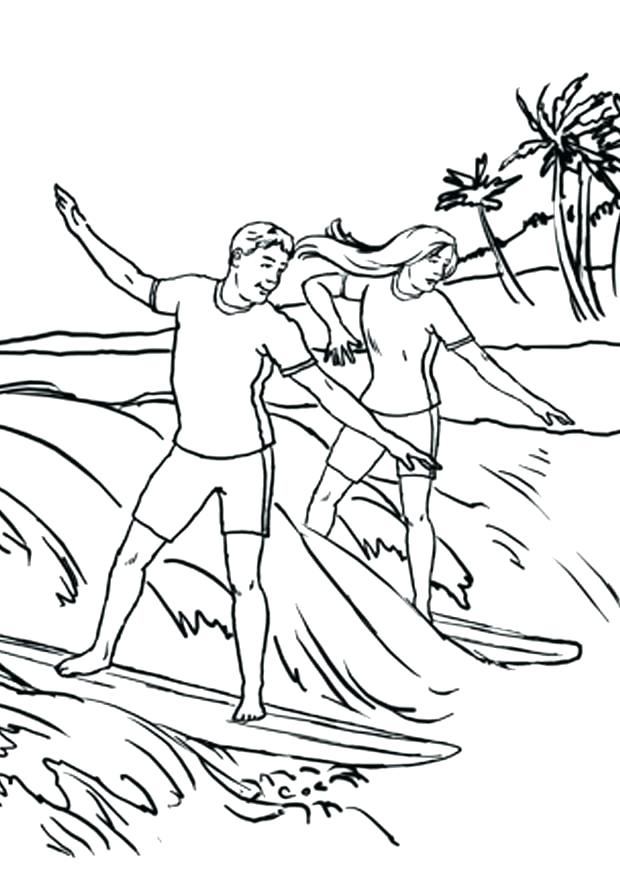 620x875 Surfing Coloring Pages Surfing Santa Claus Coloring Page Godmat Site