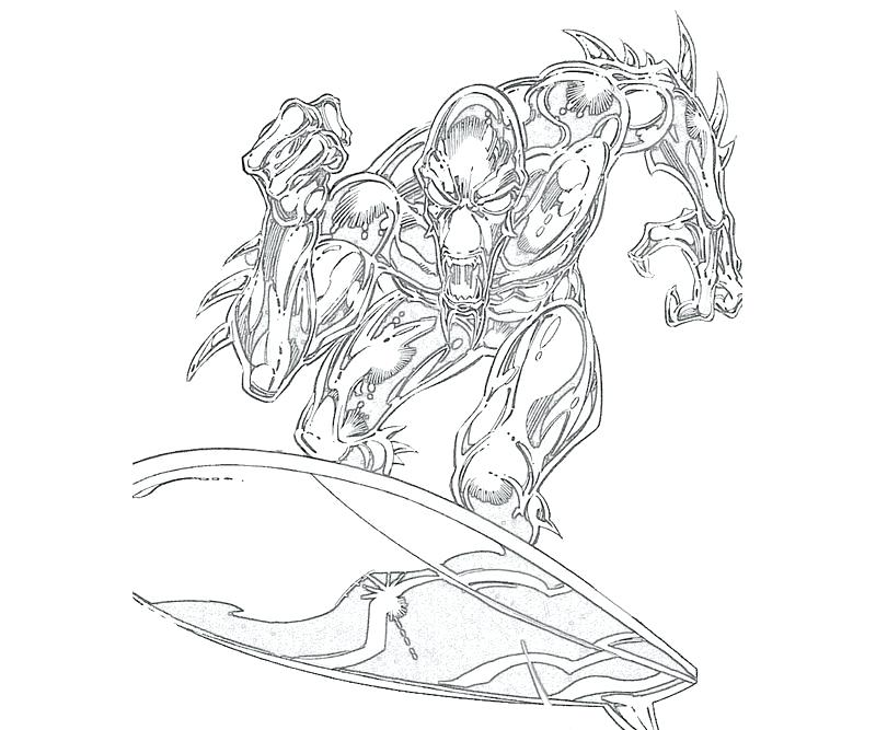 800x667 Silver Surfer Coloring Pages