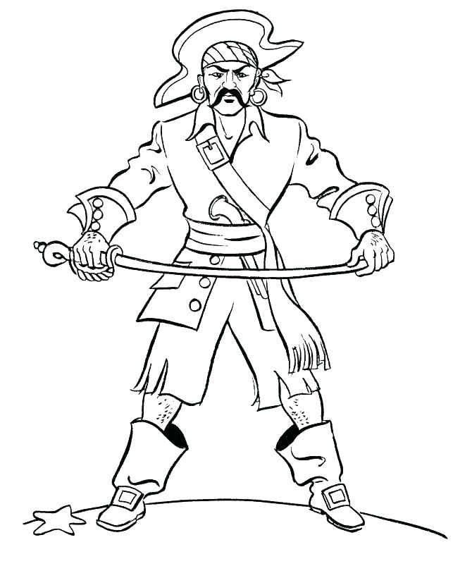 670x820 Pirate Coloring Pages Free Printable