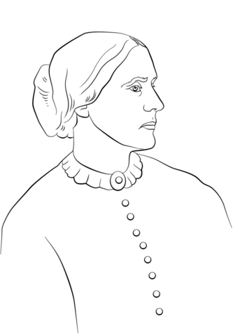 333x480 Susan B Anthony Coloring Page