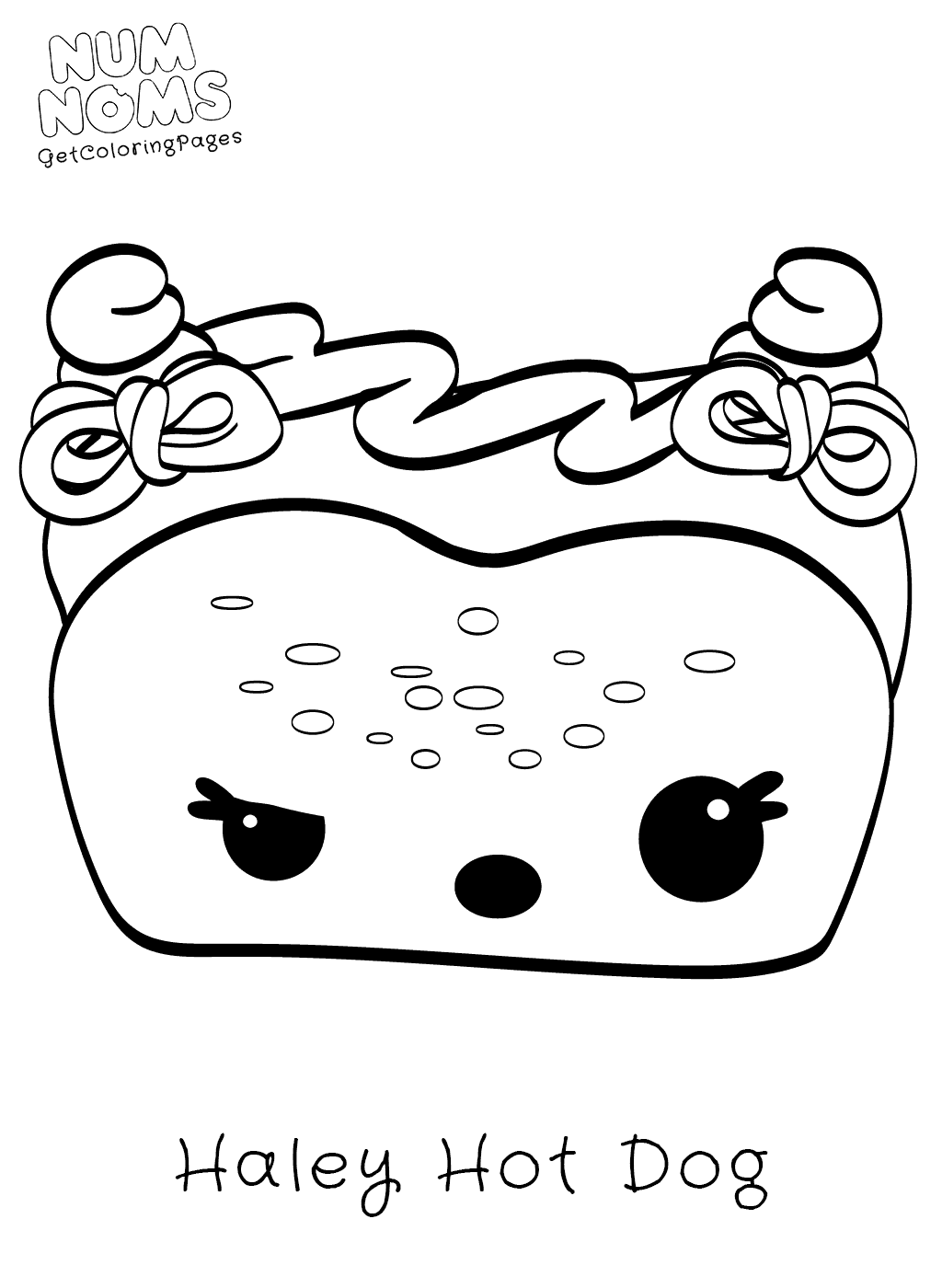 1024x1400 Cute Food Coloring Page Haley Hot Dog