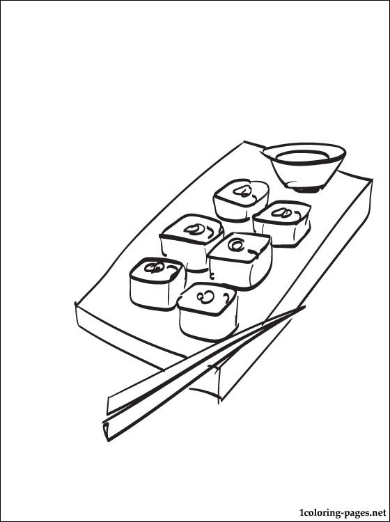 560x750 Sushi Coloring Page Coloring Pages