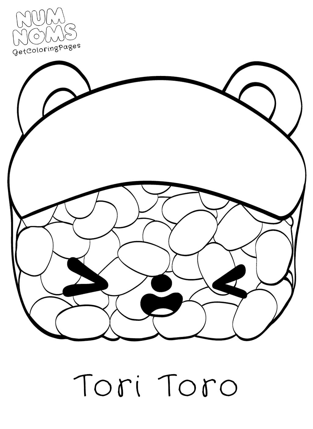 1024x1400 Tori Toro Sushi Num Noms Coloring Sheets
